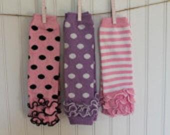 Girls Leg Warmers- Pink Leg Warmers-Lavender Leg Warmers-Select one