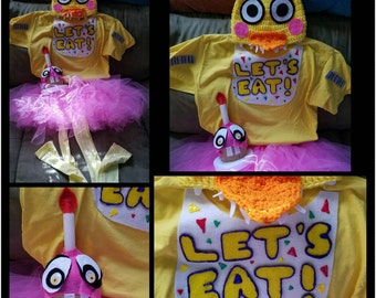 Five Nights at Freddy's INSPIRED Child Costumes and Hats. Chica Character WITHOUT Cupcake