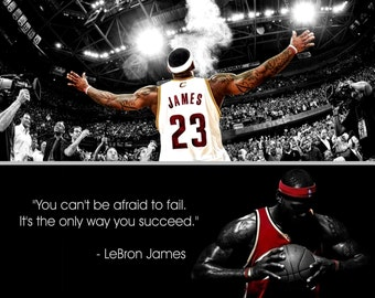 LeBron James Inspirational Quote Poster