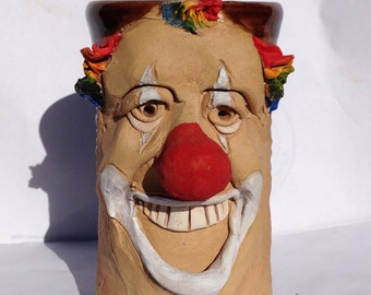 CLOWN FACE MUG in Hand Crafted Stoneware