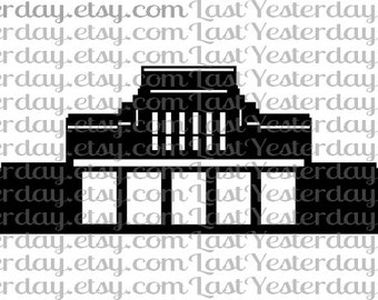 LDS Laie Hawaii Temple DIGITAL DOWNLOAD svg dxf jpg png