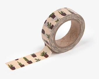 Masking Tape Single [ Succulent ] / Washi Tape Single / 101333953