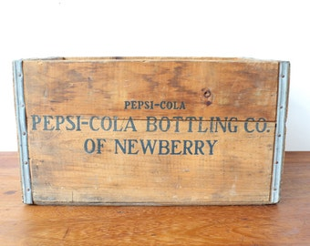Vintage wooden Pepsi soda crate - Free UK delivery