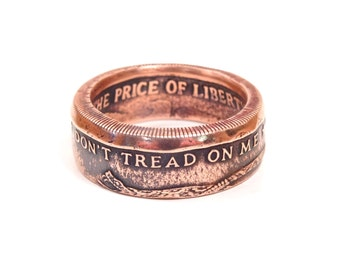 Size 16 Dont Tread On Me Coin Ring , Liberty Ring