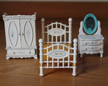 Doll House Furniture Mattel The Littles 1980 Bedroom