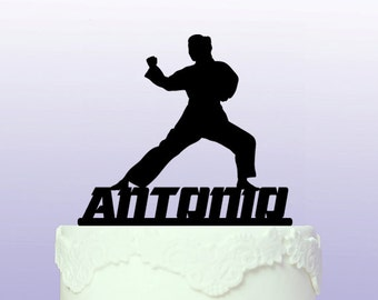 Personalised Martial Arts Cake Topper