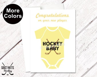 Congratulations New Hockey Baby Shower Card