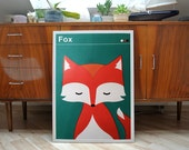 Fox | screen print poster for kids | limited edition