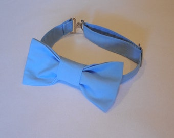 Sky blue bow tie. Blue bow tie for baby, toddler and boys. Adjustable bow tie perfect for birthdays, photo props, weddings, and Easter