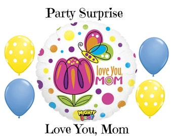 Mom Love You Balloons Mothers Day Mom Birthday I love you Mom Balloons
