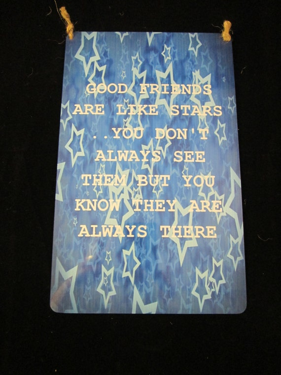 Friend Quote Plaque : Friends quote wall sign tin plaque
