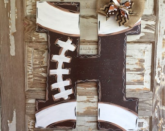 Football Door Hanger - Football Sign - Football Door Decor - Sports Door Hanger- Football Decor- Summer Door Hanger - Football Mom