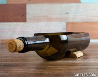 Upcycled Wine Bottle Planter