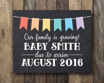 Printable Pregnancy Announcement - Pregnancy Announcement Prop