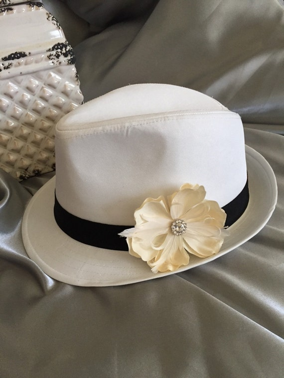 Fedora Womens Fedora White Fedora Easter Hat Womens Hat