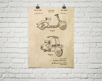 KillerBeeMoto: Duplicate of Original U.S. Patent Drawing For Vintage Scooter