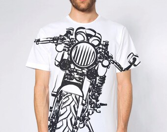 KillerBeeMoto: Vintage Italian Cafe Racer Sport Classic Motorcycle All Over Print T-Shirt