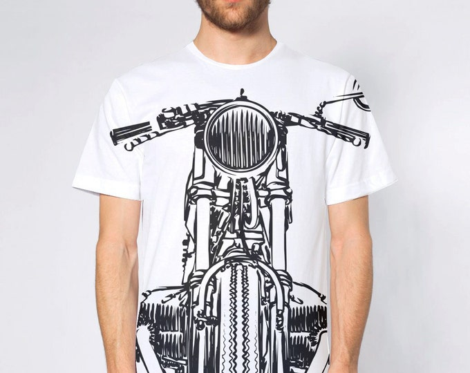 KillerBeeMoto: Vintage German Cafe Racer Sport Classic Motorcycle All Over Print T-Shirt