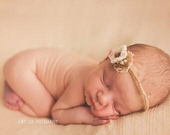 Handmade  Olivia Headband / Tieback Newborn Photographers Prop UK Seller