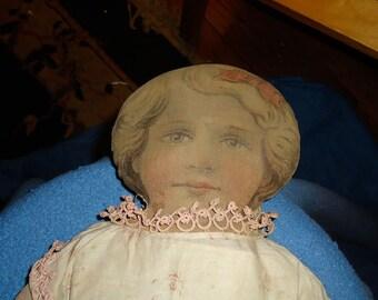 """Circa 1900 Victorian """"Lithograph Face"""" Ragdoll"""
