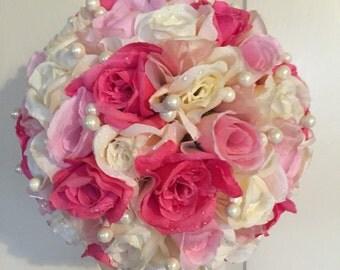 Wedding Kissing Ball. Kissing Ball. Handmade Kissing Ball. Pomander Ball. Wedding Decorations. Wedding Bouquets. Wedding Floral Decorations