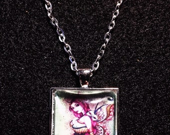 Steampunk Fairy pendant and chain