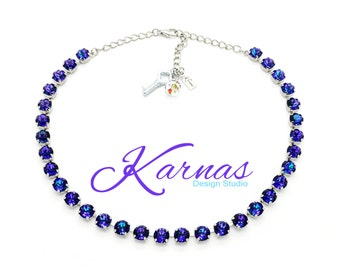 PICK YOUR COLOR 8mm Necklace and Choose Your Finish *Swarovski Elements * Karnas Design Studio *Free Shipping* Tag Only