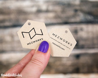 Hexagon Custom Tags | Jewelry Tags | Price Tags | Hang Tags | Favor Tags | Blank or Custom | SH021TA
