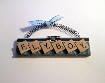 Fly Boy Scrabble Tile Ornament