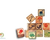 Arabic educational building blocks - العربية - Perfect New Year Gift! Luxury Quality, Non-Toxic, Made in USA!
