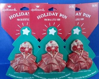 1995 Three Hallmark Holiday Barbie Pins