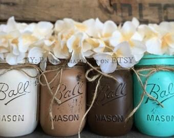 on sale now set of 3 mason jars painted mason jars pink
