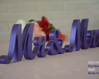 Mr. Mrs. Sweet Heart Table Sign, Freestanding Mr and Mrs sign, Sweetheart table, Reception, Bridal Decoration