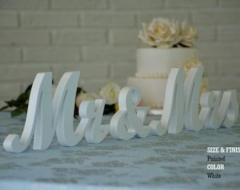 wedding sign white mr & mrs, mr and mrs sign, mr and mrs wall decor, mr and mrs table sign, mr and mrs wedding gift