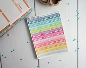 Multi Color Habit Tracker Quarter Box Sticker Set for a Variety of Planners - LS14