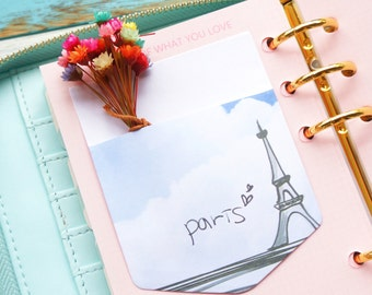 1 Pack 10 Pcs Kawaii Paris Pocket Memo Stickers Plan Schdule Planner Planning Amelie
