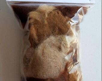 2oz  100% Alpaca  fiber for Bird Nesting Balls