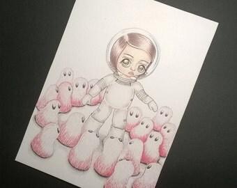 The Alien  Art Print