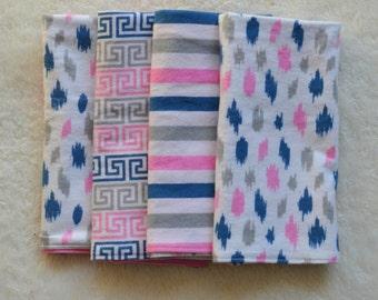 Set of 4 Burp Cloths