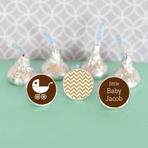 Baby Shower Stickers For Hershey Kisses ~ Hershey kiss labels baby shower favors stickers for candy