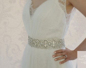 BELLE  Wedding Dress Crystal Bridal Belt