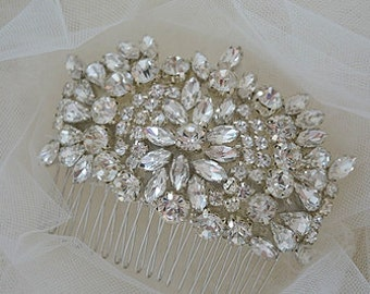 "Vintage Inspired ""Ella"" Crystal Bridal Comb"
