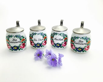 Miniature Lidded Porcelain Beer Steins Kurt Hammer W.Germany 1970's