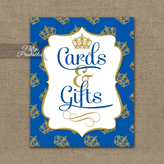 Royal Baby Gifts Uk : Cards and gifts sign royal baby shower blue gold