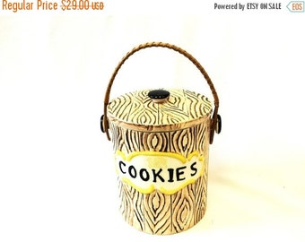 ON SALE Faux Bois Cookie Jar