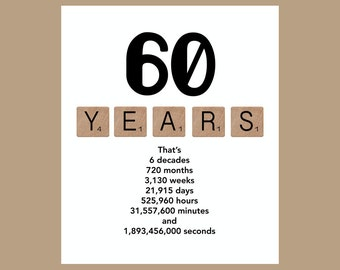 60th Birthday Card, Milestone Birthday Card, The Big 60, 1957 Birthday Card