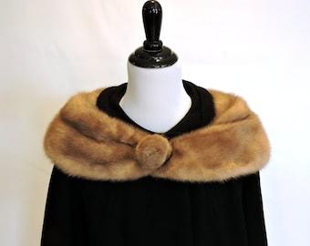 Vintage Wool Coat with Fur Collar, Lane Bryant Long Black Wool Coat, Fur Trim Coat, 50s Mid Century Overcoat, Covered Pockets, Satin Lining