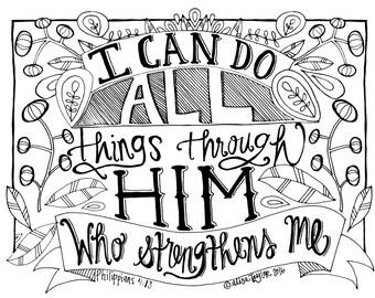 Coloring Page Philippians 4:13