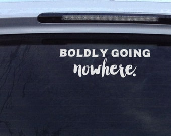Boldly Going Nowhere: Funny Car Decal