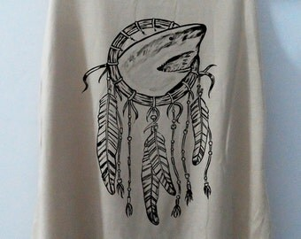 Shark Dream Catcher Shark Tshirt Animal Shirt tshirt Women Shirt Tank Top Women T-Shirt Tunic Top Vest Size S,M,L